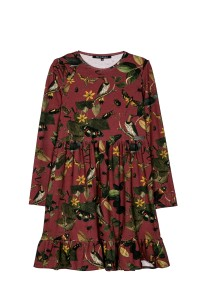 DRESS BURGUNDY BOTANICA