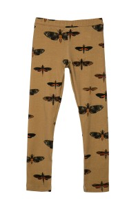 LEGGINGS MOTHS MUSTARD