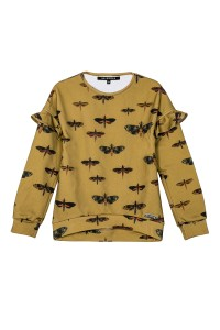 SWEATSHIRT MUSTARD MOTHS