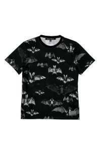MEN T-SHIRT BATS  BLACK
