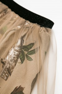 SKIRT OWLS BEIGE