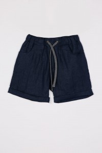 SHORTS LINEN NEAVY BLUE