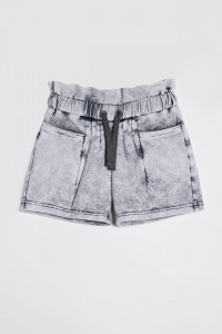 GIRL'S SHORTS ACID GRAY
