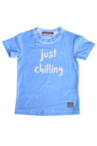 T-SHIRT JUST CHILLING BLUE