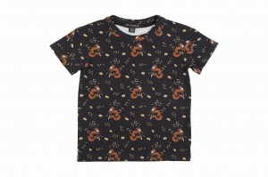 T-SHIRT FOXES BLACK